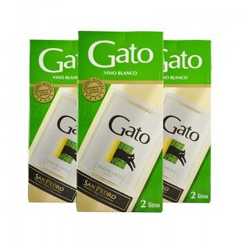 GATO 2 LT. BLANCO TETRA -X PACK DE 3
