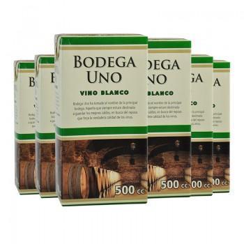 BODEGA UNO 500 CC BLANCO TETRA- X PACK DE 6