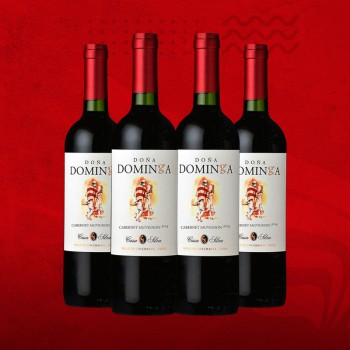 DOÑA DOMINGA CABERNET SAU. 750 ML -X PACK DE 4 OFERTA