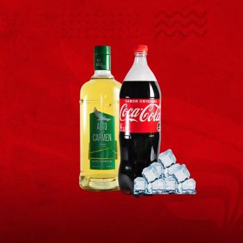 Promo Cuarentena: Pisco Alto del Carmen 35°+ Coca 1,5 + Hielo