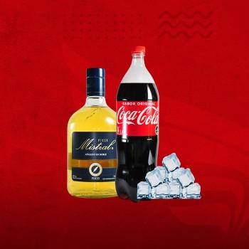 Promo Cuarentena: Pisco Mistral 35°+ Coca 1,5 + Hielo