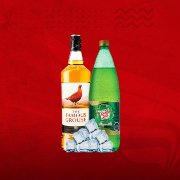 Promo Whisky: Famous Grouse 750cc + Canada 1,5 + Hielo