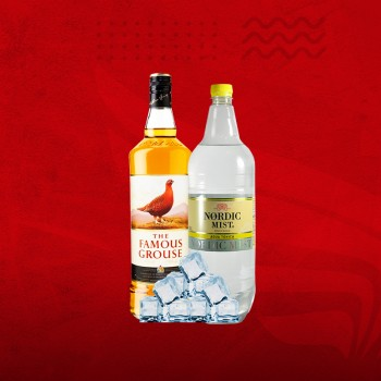 Promo Whisky: Famous Grouse 750cc + Tonica 1,5 + Hielo