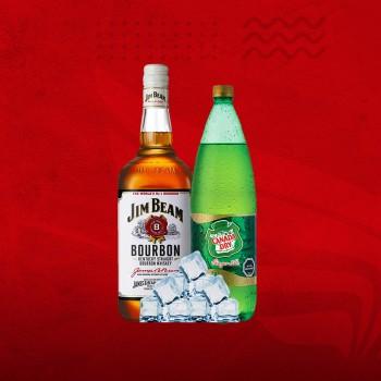 Promo Whisky XL: Jim Beam 1ltr + Canada 1,5 + Hielo